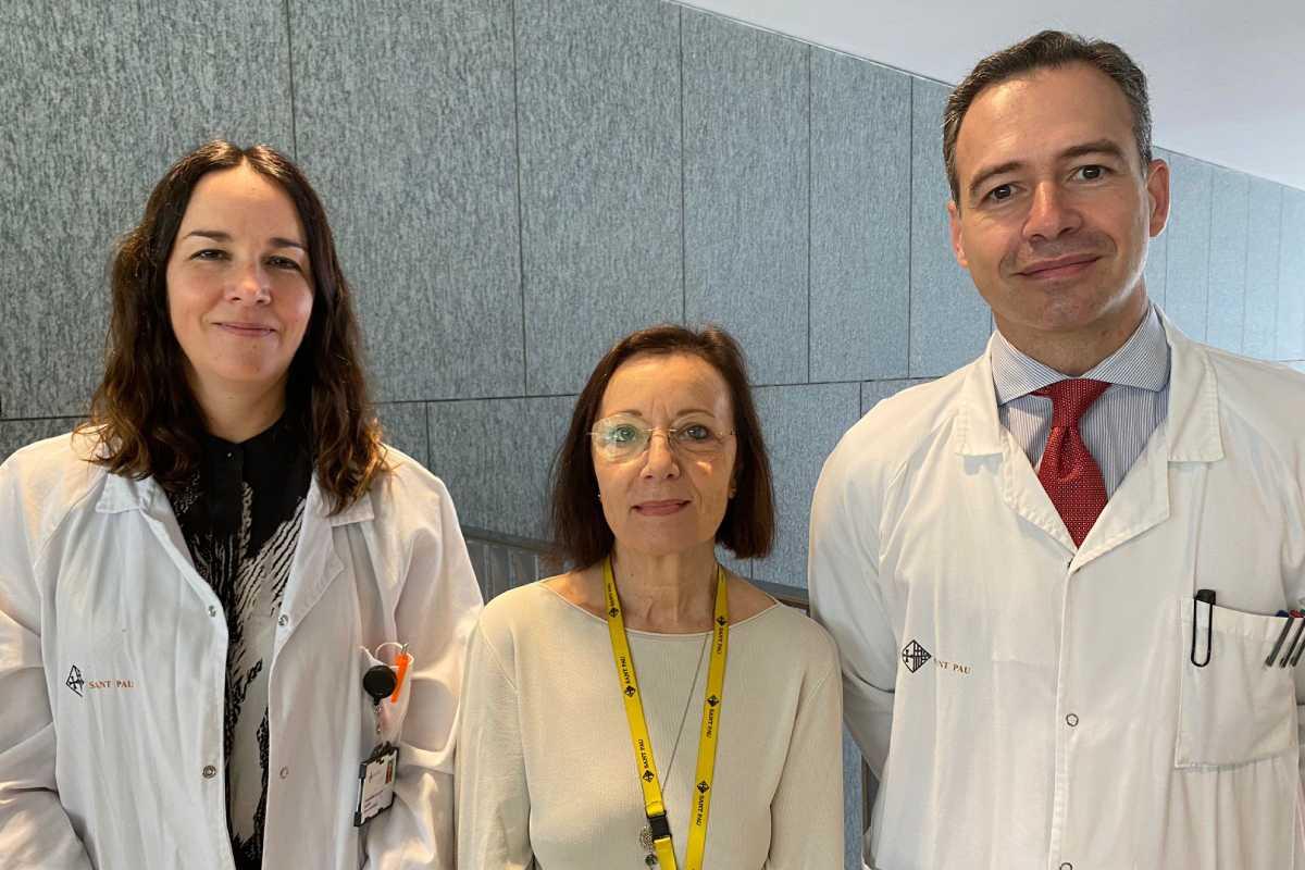 Ivana Sullivan, Montserrat Estorch y Santiago Sánchez Cabús, de Hospital de Sant Pau.