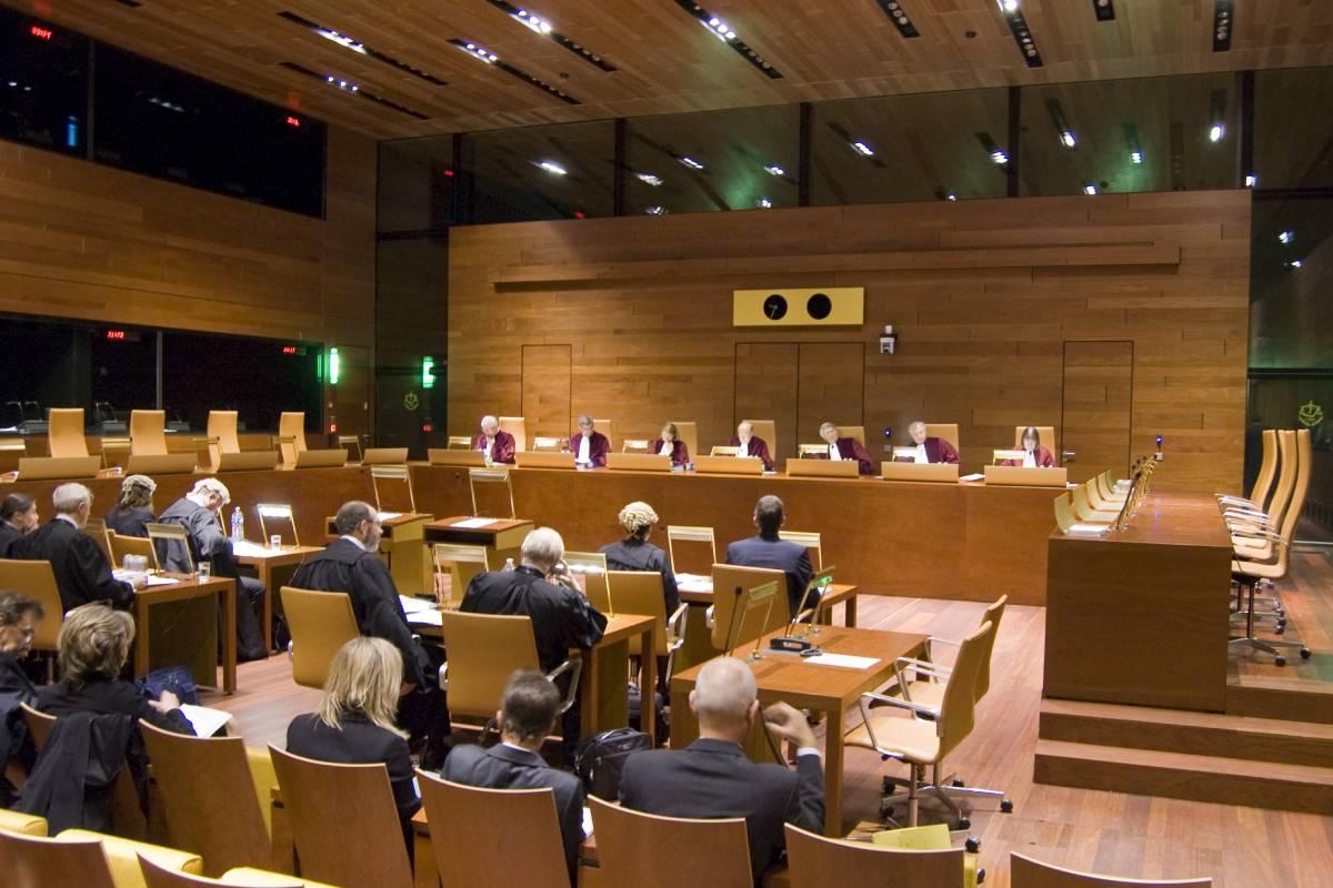 Una de las salas del Tribunal de Justicia de la Unión Europea.