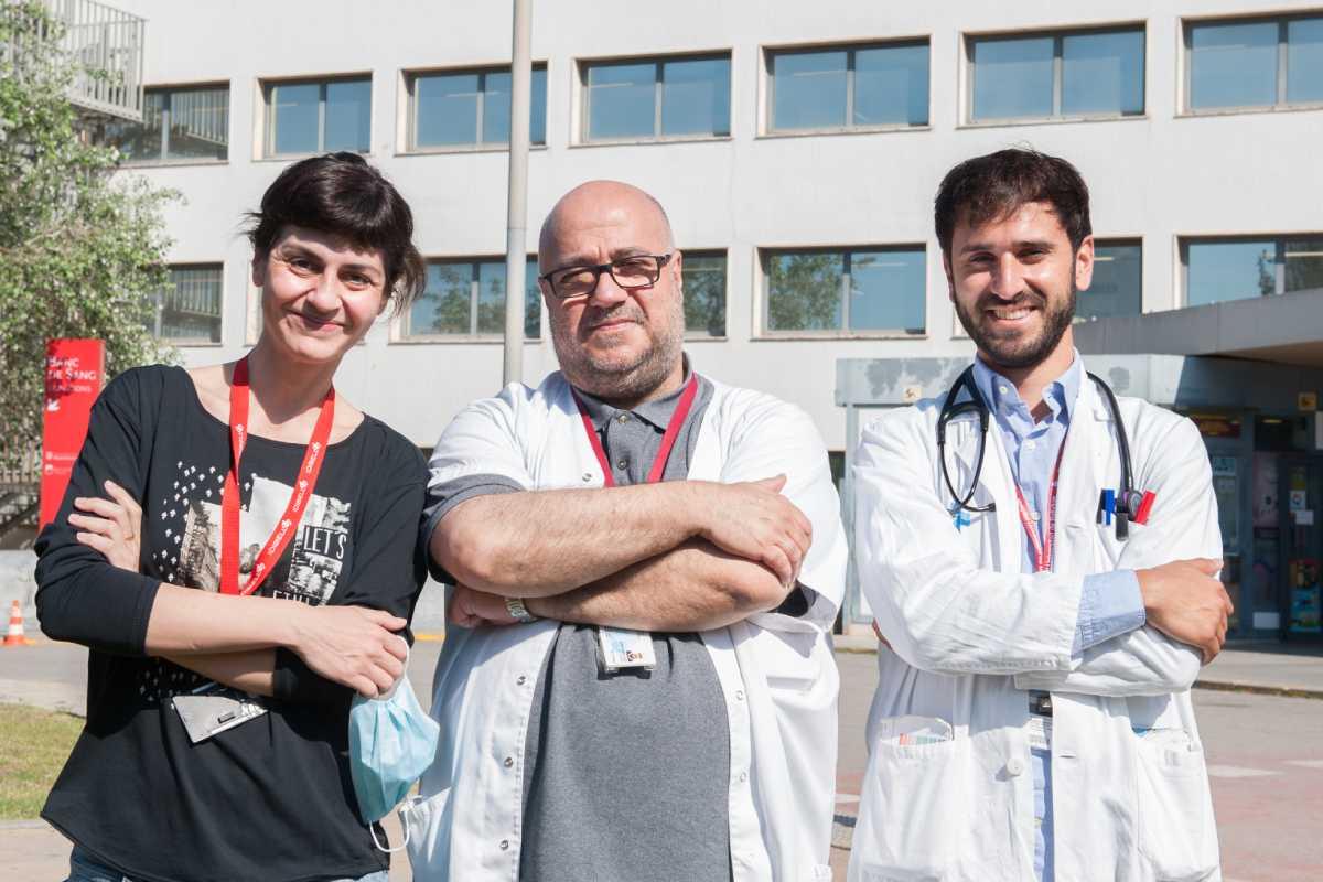Marta Tajes, Josep Com�n y Carles D�ez López, de Bellvitge. Foto: H. de Bellvitge