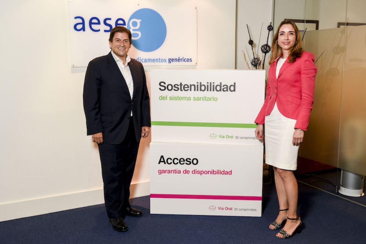 Raúl Díaz-Varela, presidente de Aeseg, y Matilde Sánchez Reyes, presidenta de Fedifar.