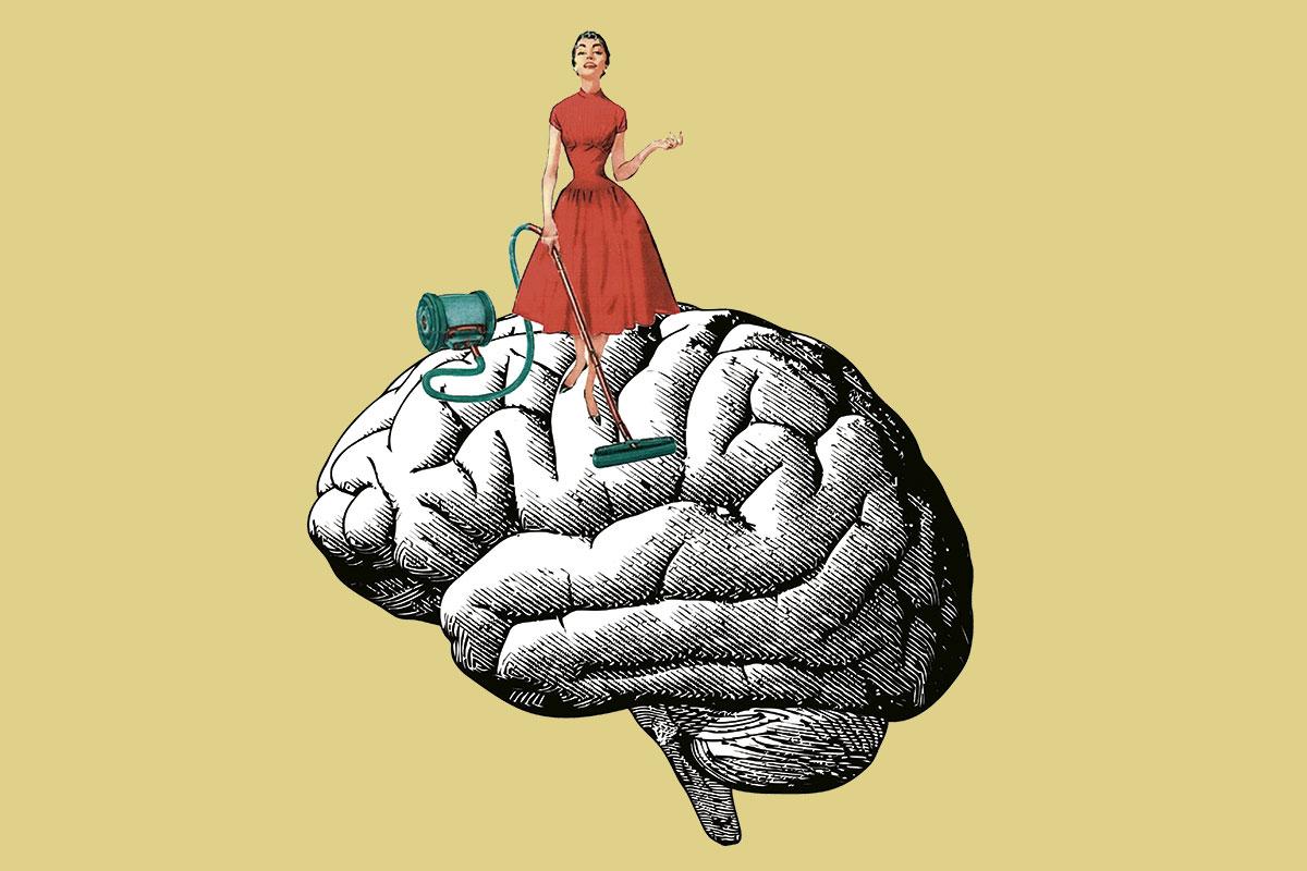 Aducanumab actúa 'limpiando' el amiloide cerebral (Ilustración: Luis S. Parejo).