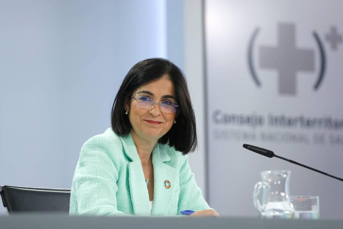 Carolina Darias, ministra de Sanidad, tras el Consejo Interterritorial del 23 de junio (EFE/Mariscal)