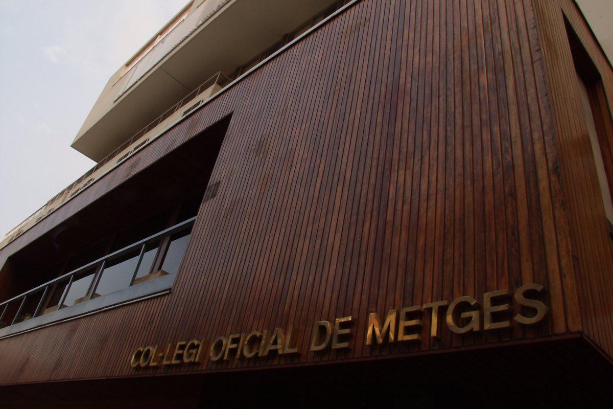 Fachada principal del Colegio Oficial de Médicos de Barcelona (FOTO: COMB).