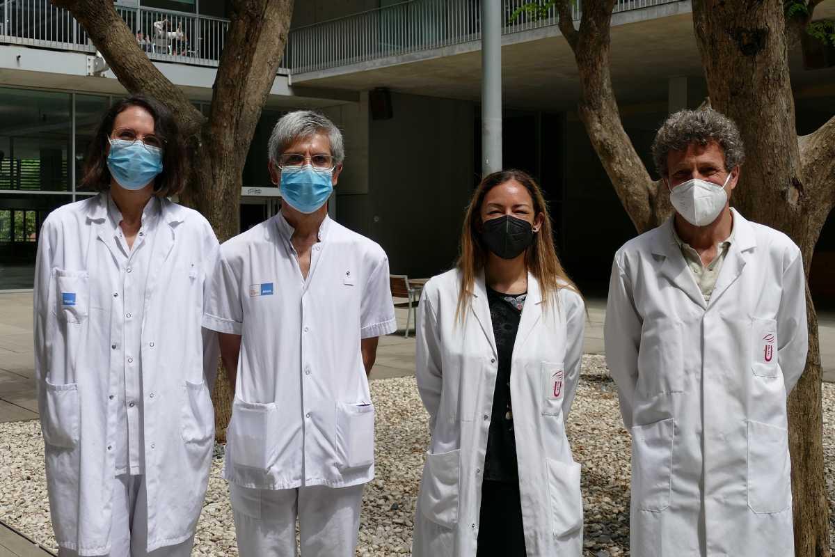 Olivia Ferrández, Sant Grau, Elena Mart�n-Garc�a, Rafael Maldonado, firmantes del estudio. Foto: Hospital del Mar