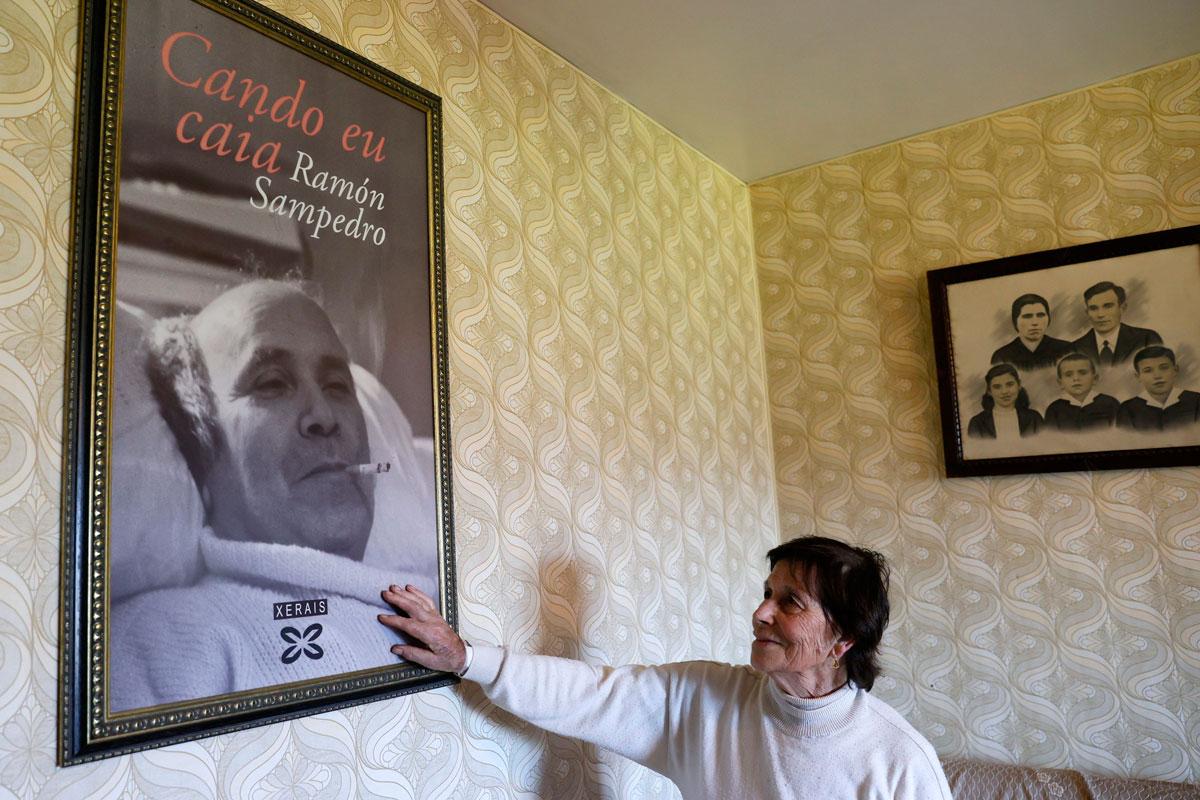 La ley de eutanasia entrará en vigor el próximo 25 de junio. En la imagen una foto de Ramón San Pedro, un referente en la lucha por regular esta práctica.