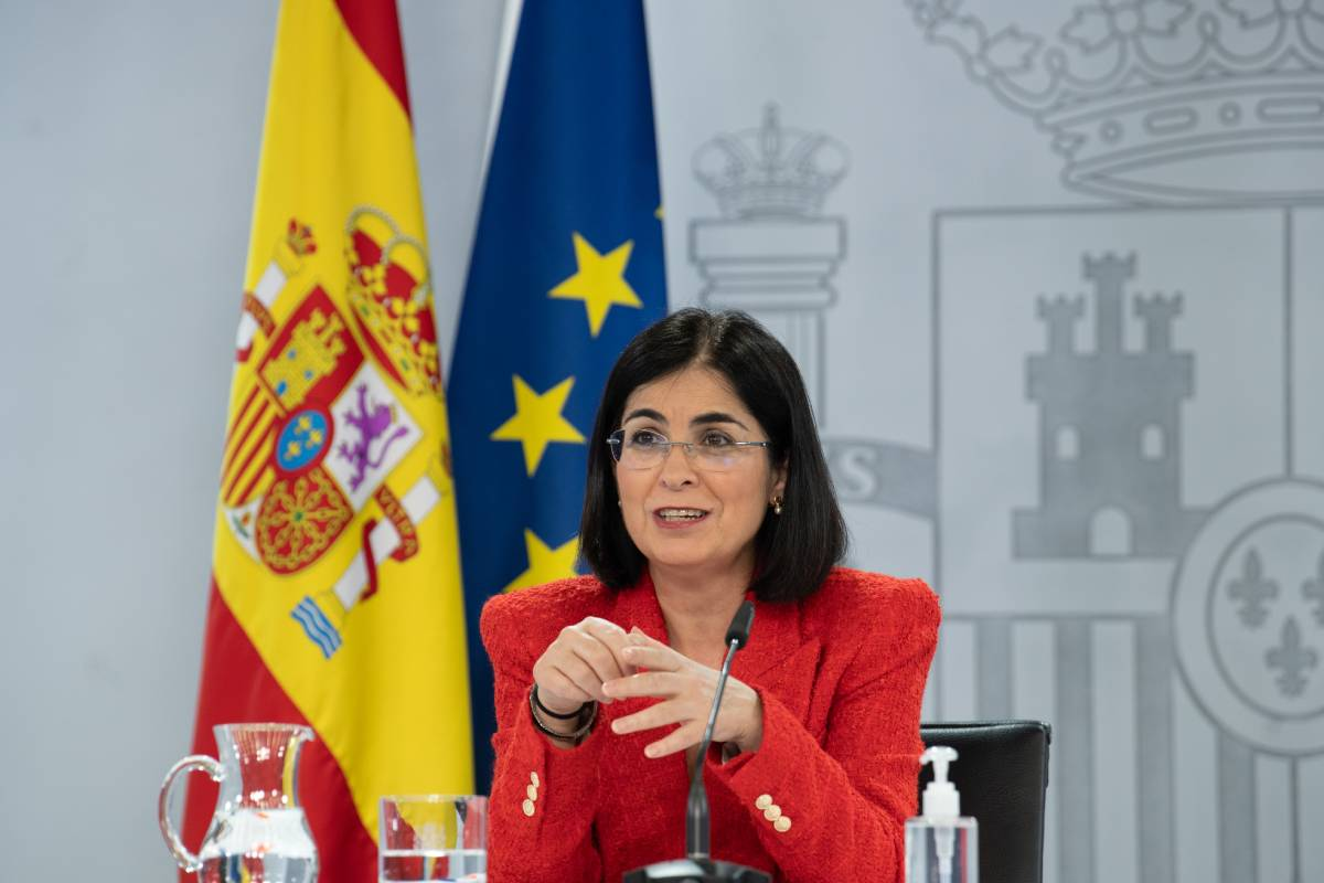 Carolina Darias, ministra de Sanidad, en rueda de prensa tras un Consejo Interterritorial.