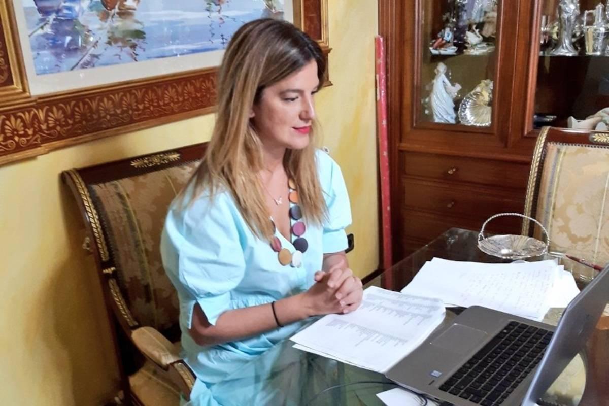 Elena Mantilla, durante el coloquio.