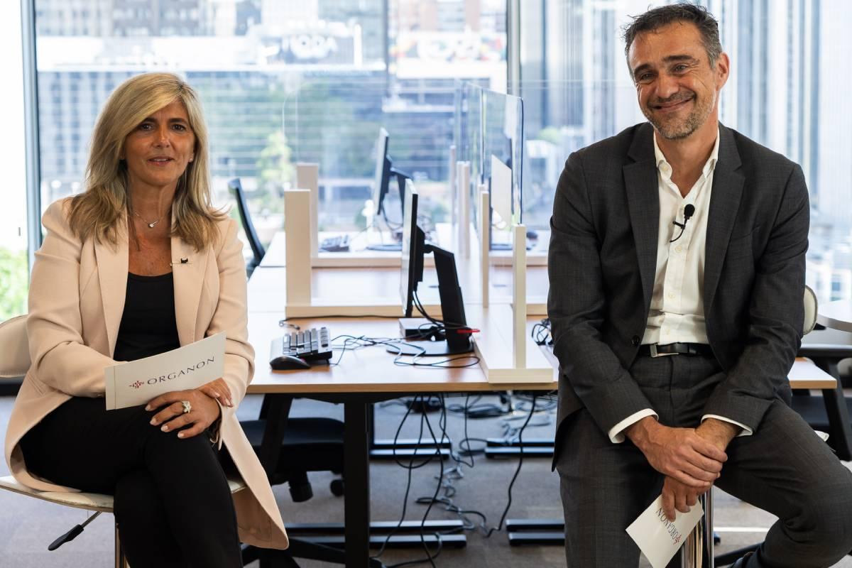 Begoña Gómez-Taboada y Juan Vera, directora médica y director general de Organon España y Portugal.