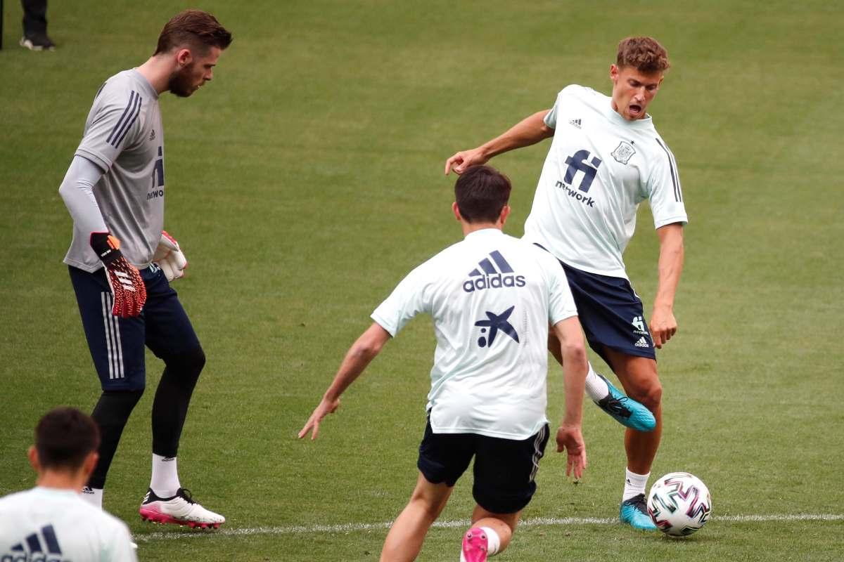 Sesión de entranamiento de la selección española celebrada pasado 3 de junio en el estadio Wanda Metropolitano. (EFE)