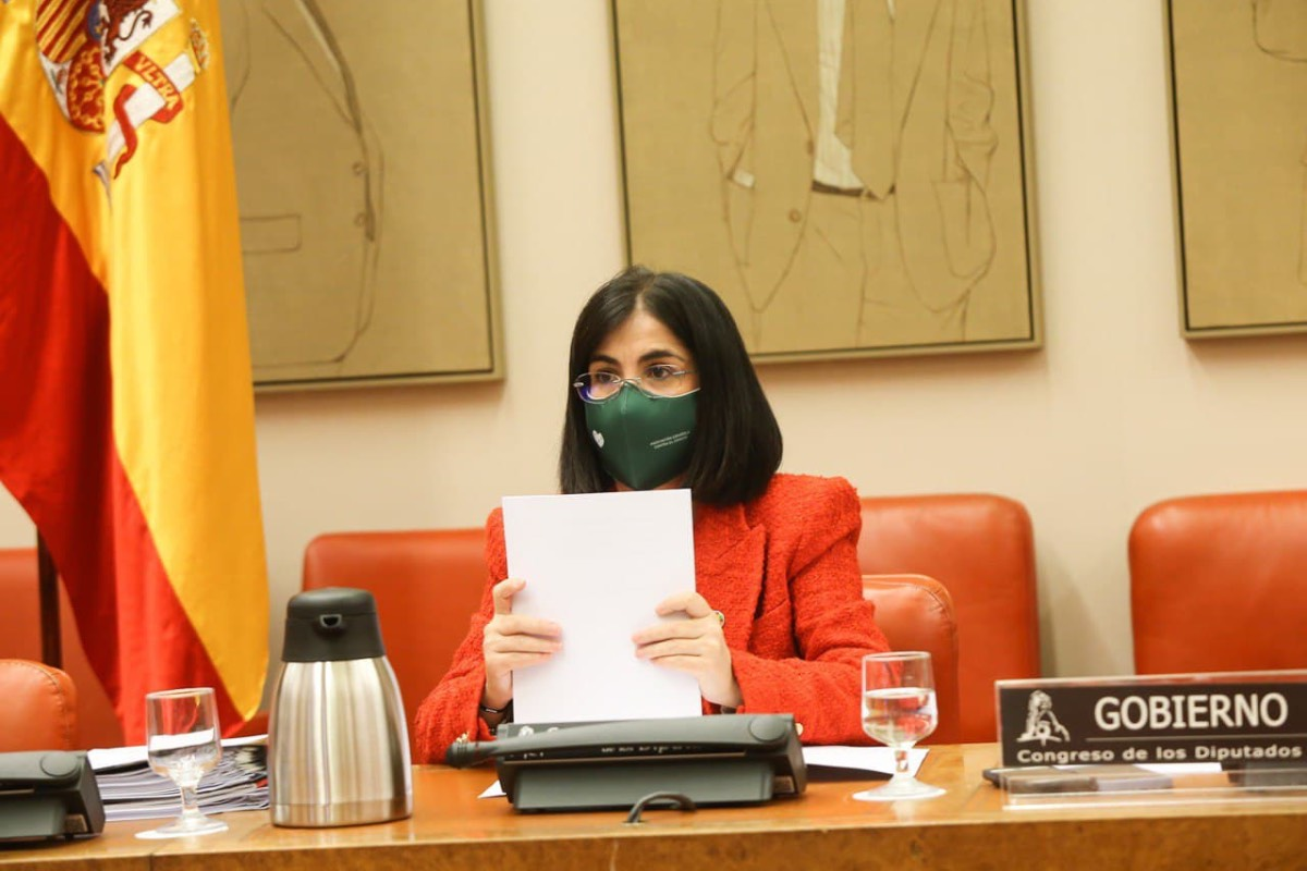 La ministra de Sanidad, Carolina Darias, durante una comparecencia en la Comisión de Sanidad (Foto: Congreso de los Diputados).
