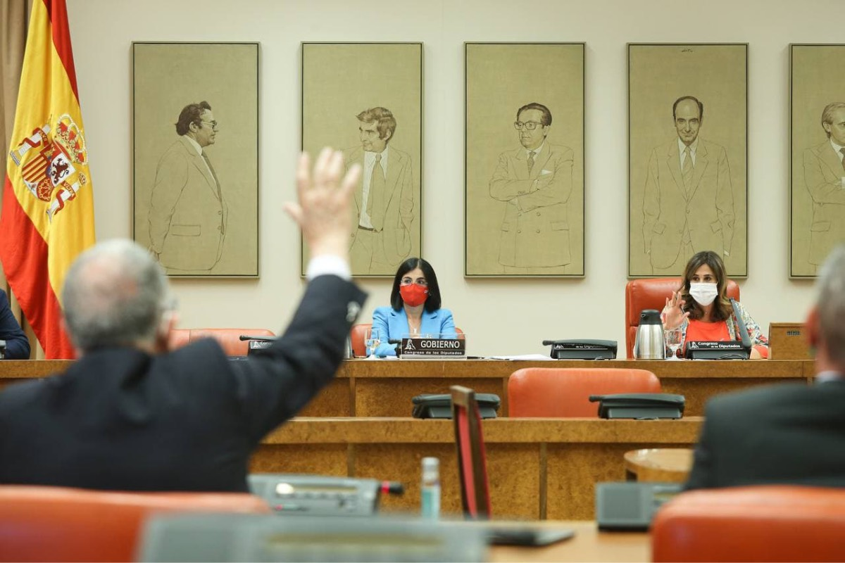 La ministra de Sanidad, Carolina Darias, durante una reciente comparecencia en la Comisión de Sanidad y Consumo (Foto: Congreso de los Diputados).