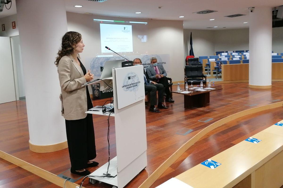 Aránzazu Vázquez, en un momento de su intervención durante la presentación del documento. FOTO: Fundación Casaverde.