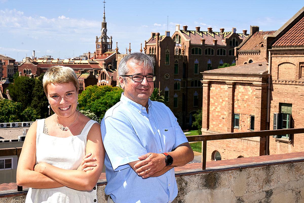 Los 'compliance officers' del Sant Pau son los abogados de la fundación que gestiona el centro, Felip Carbajo i Pernau y Olga Pozas Presa. Foto: Pedro Salado/Araba Press