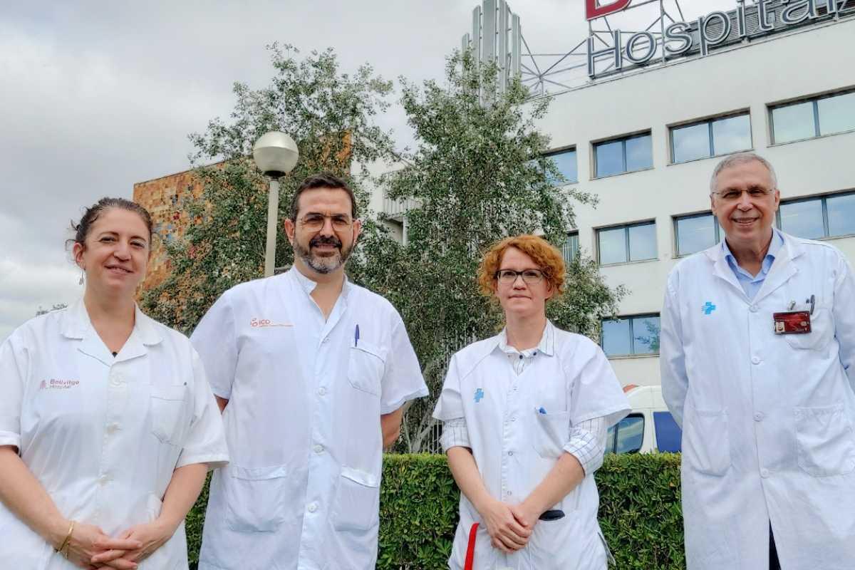Maria del Pino Alonso, Jacinto Segalas, Eva Real y José Manuel Menchón, de Bellvitge. Foto: Hospital de Bellvitge