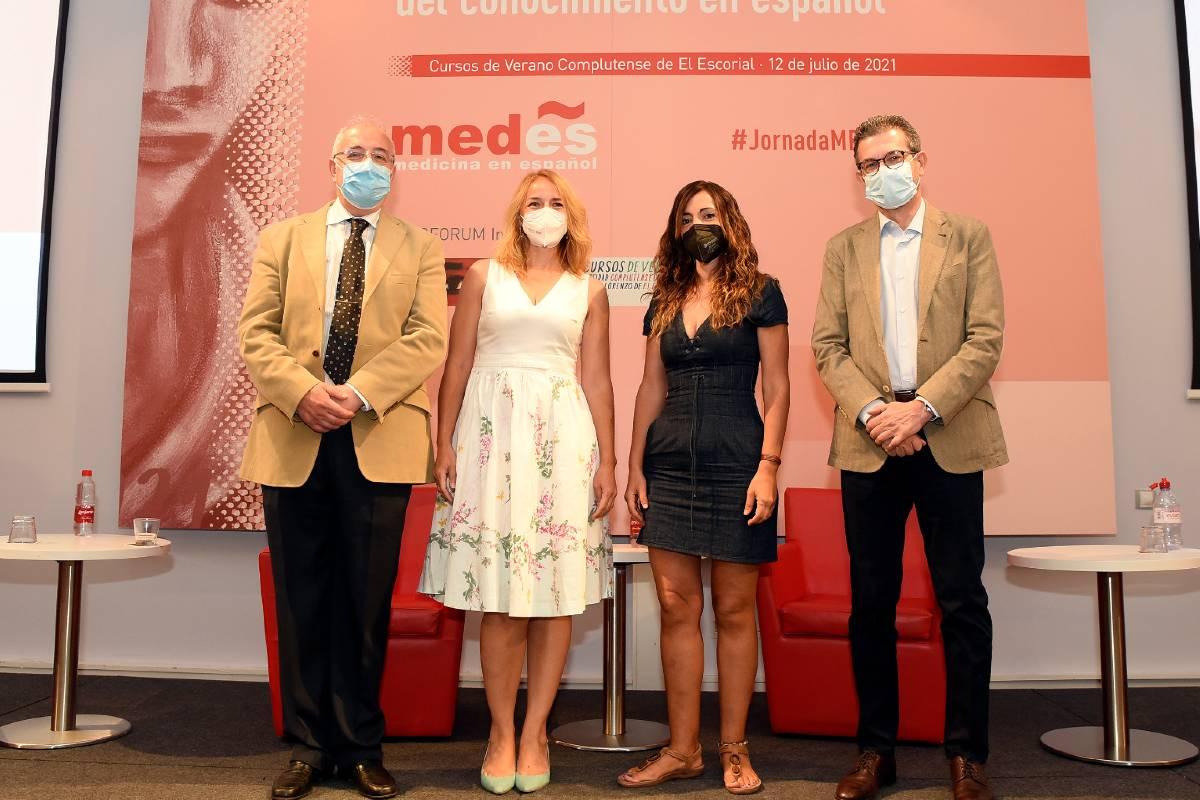 Fernando Navarro, Elea Giménez Toledo, Elena Sanz y José Antonio Sacristán.