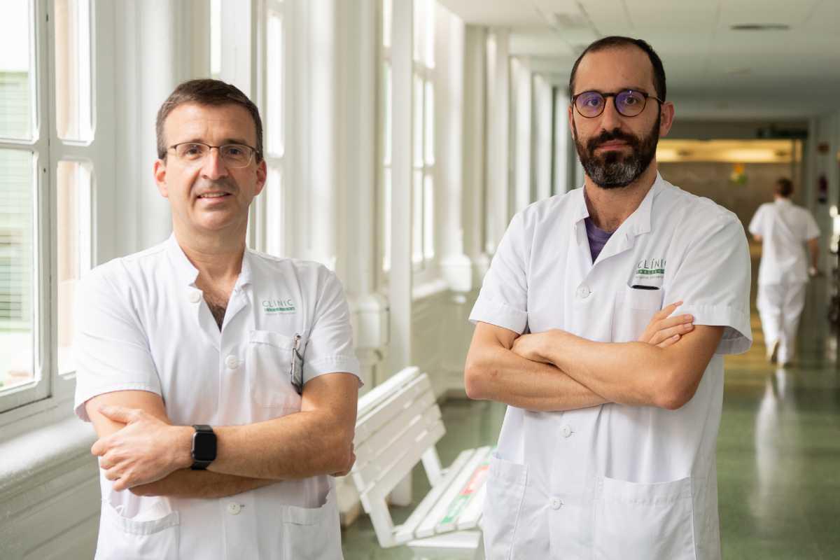 Xavier Forns y Sergio Rodríguez-Tajes han confirmado con datos el impacto de las terapias contra lel VHC. Foto: Idibaps