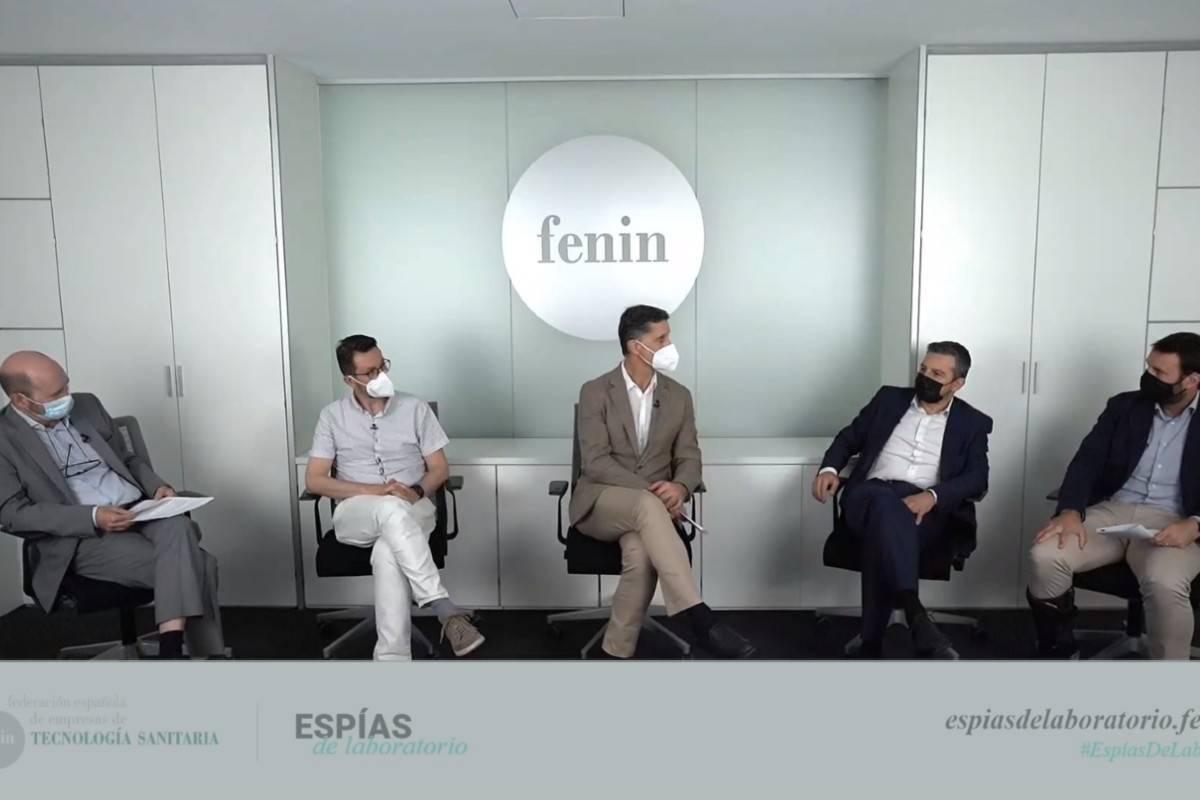 Carlos Sisternas, Julio García Rodríguez, Antonio Buño, Andoni Lorenzo y Óscar Barceló, del sector de DIV de Fenin.