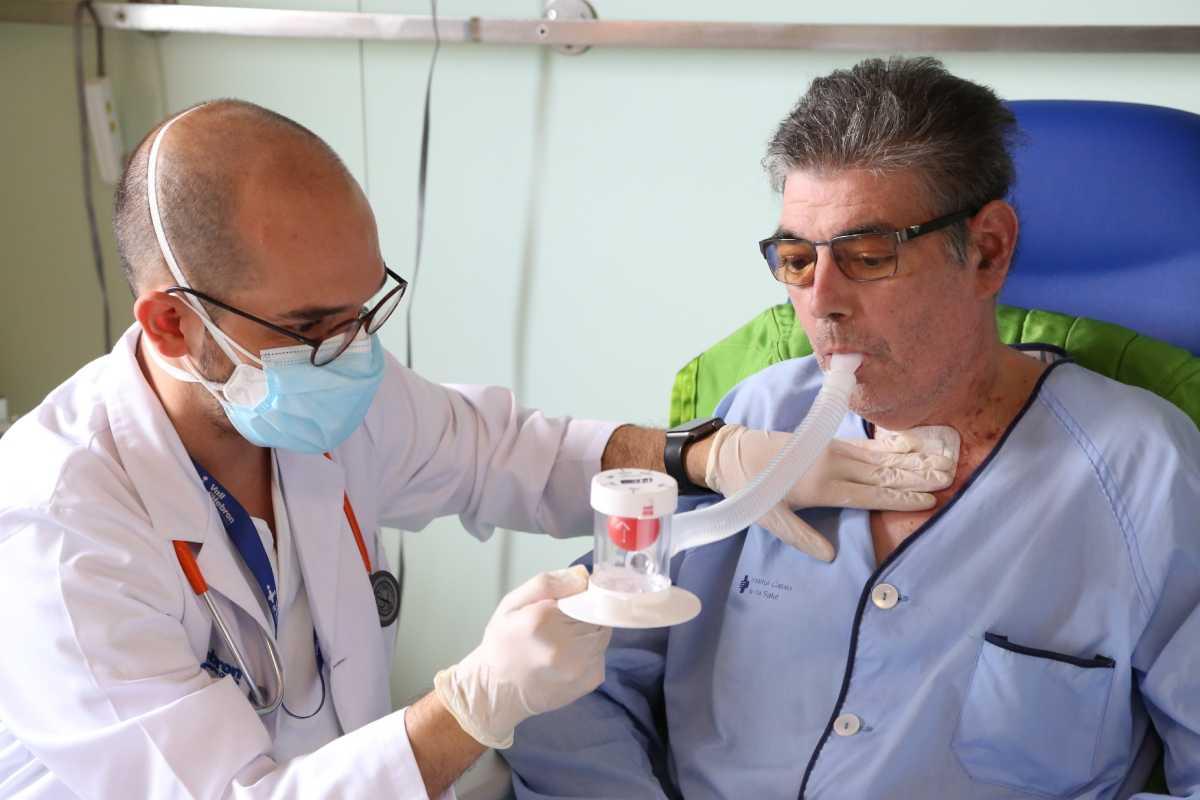Jordi, de 51 años, primer trasplantado de pulmón por post covid-19. Foto: Hospital Vall d'Hebron