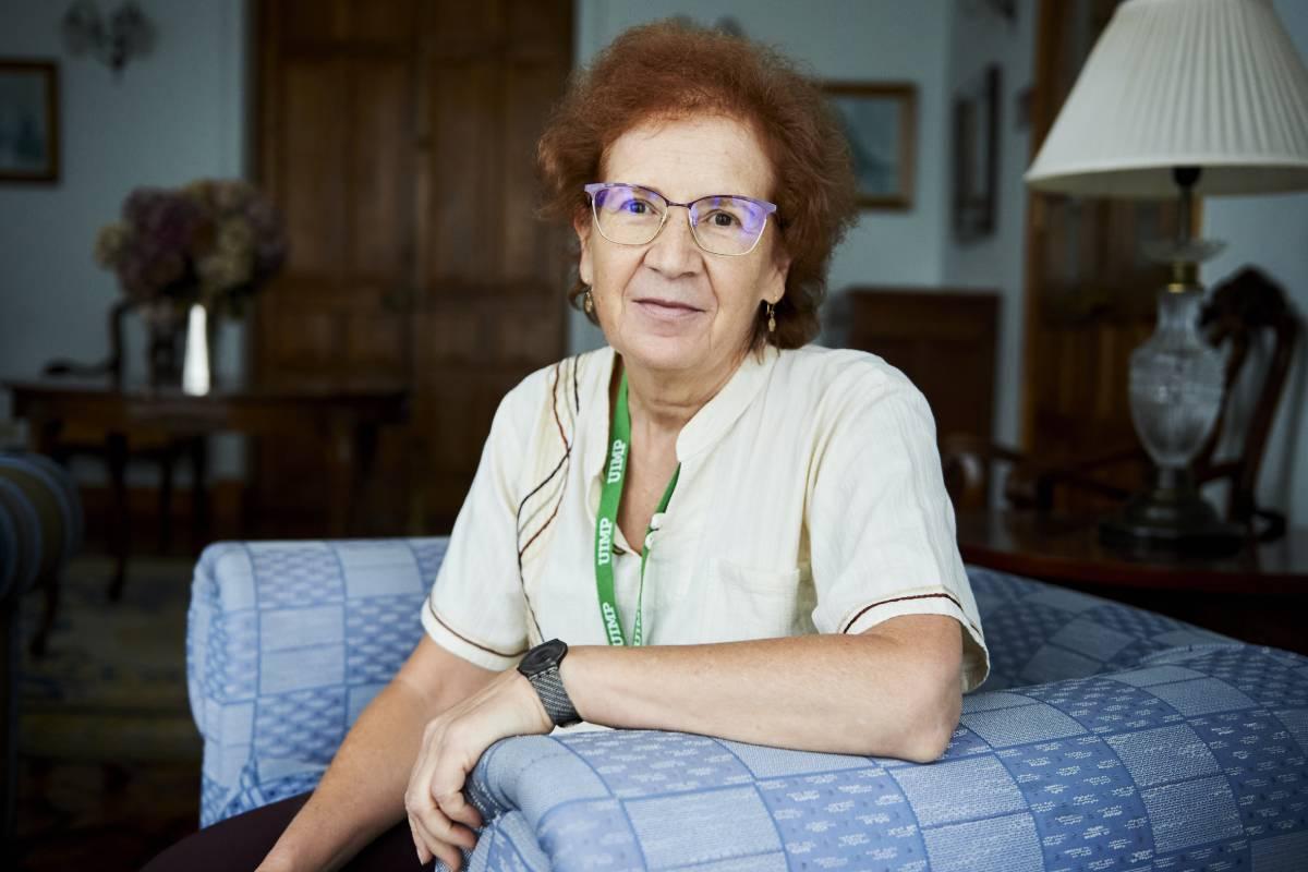 La viróloga Margarita del Val, en el Palacio de la Magdalena, Santander.