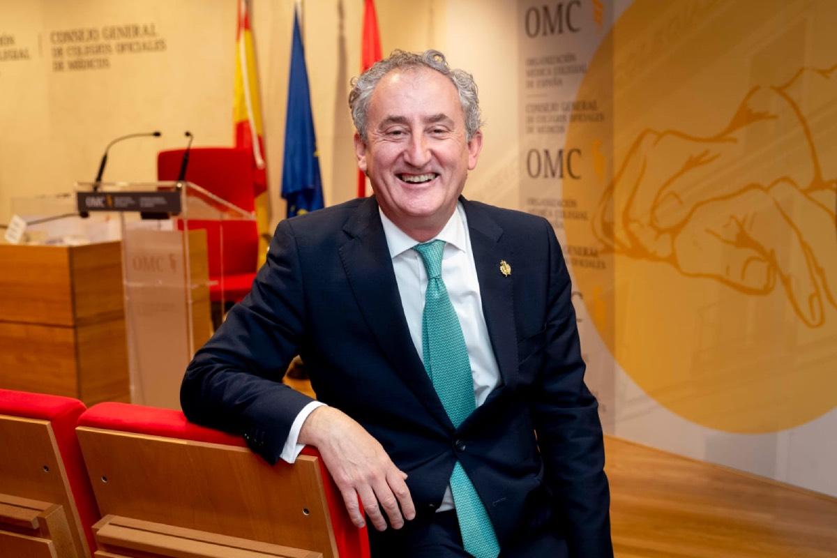 Tomás Cobo, presidente del Consejo General de Colegios de Médicos (FOTO: José Luis Pindado).