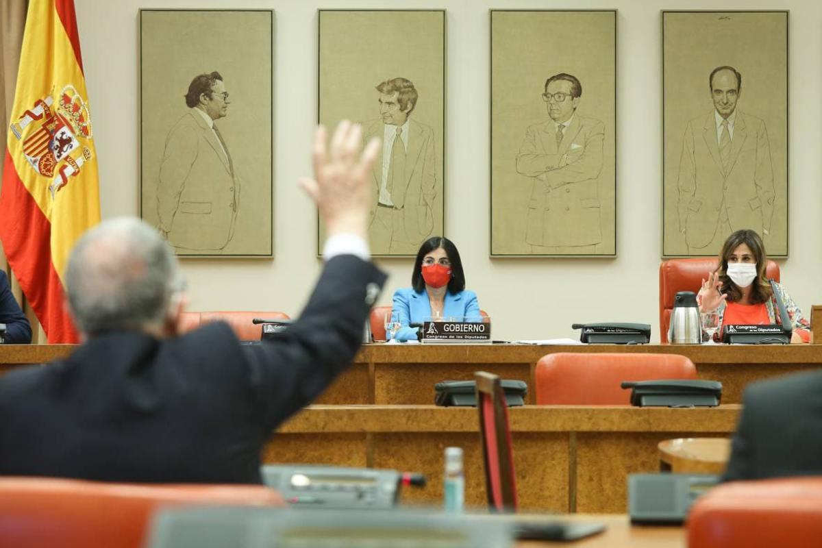 Comparecencia de la ministra de Sanidad, Carolina Darias, en la Comisión de Sanidad del Congreso de los Diputados.
