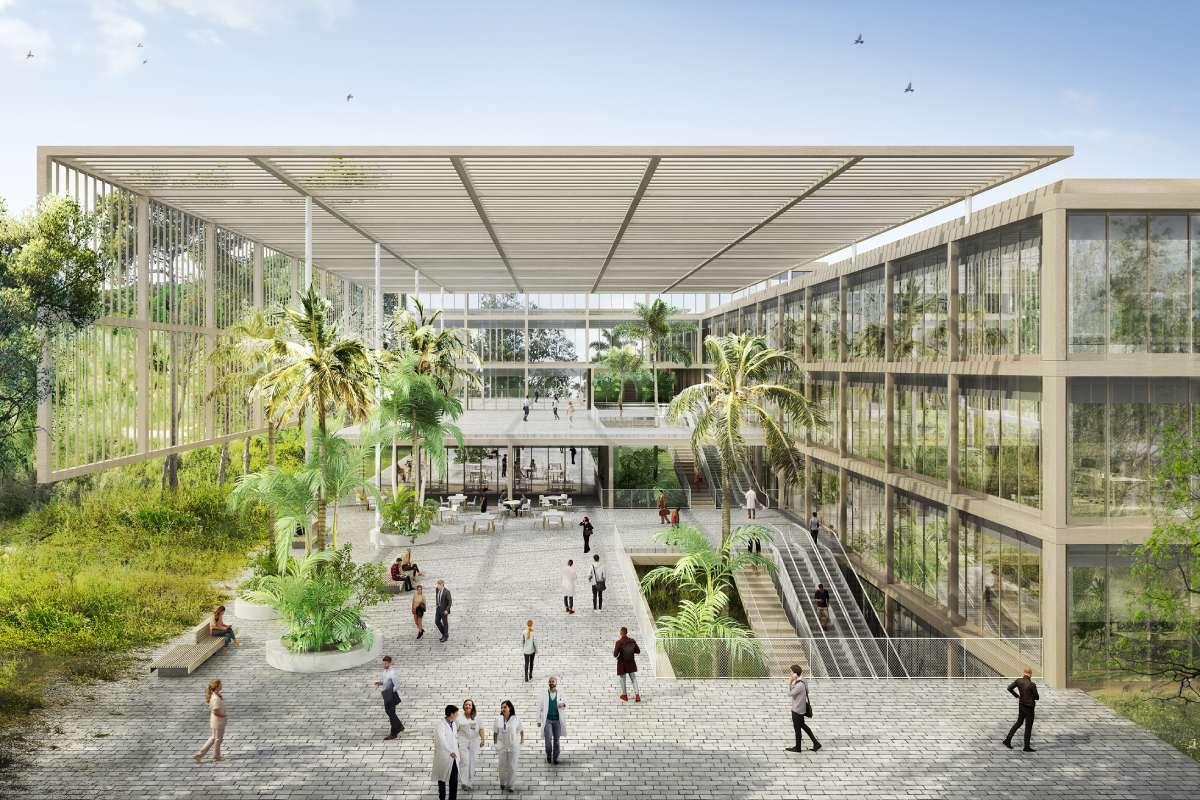 """El nuevo centro de investigación biomédica de la Fundación """"La Caixa"""" estará cerca del CosmoCaixa de Barcelona. Foto. Fundación """"La Caixa"""""""
