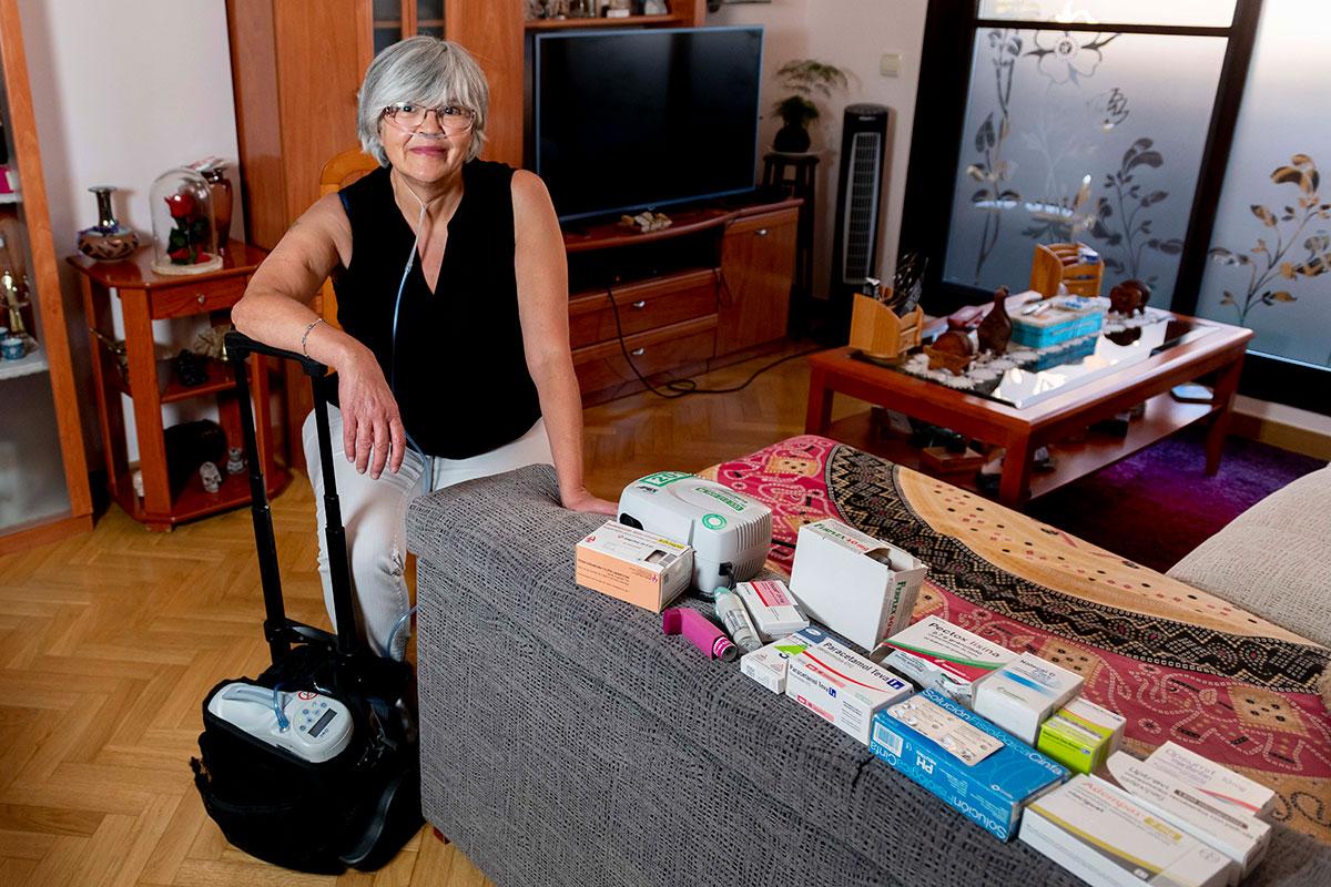 Eva García, presidenta de la Asociación Nacional de Hipertensión Pulmonar. /JL. Pindado.