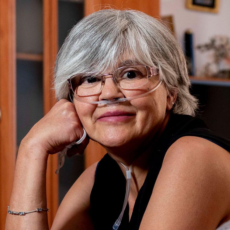 Eva Garc�a, enferma de hipertensión pulmonar. /JL. Pindado.