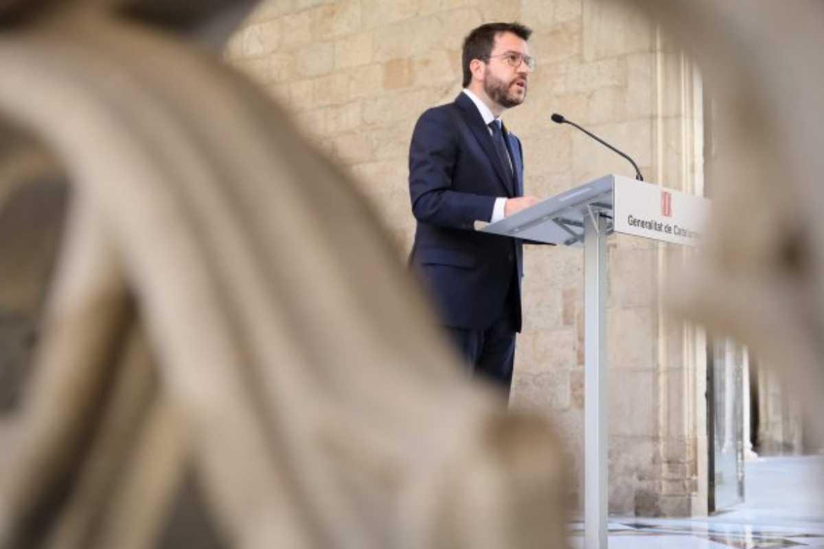 El presidente de la Generalitat catalana, Pere Aragonès. Foto: Generalitat de Cataluña.