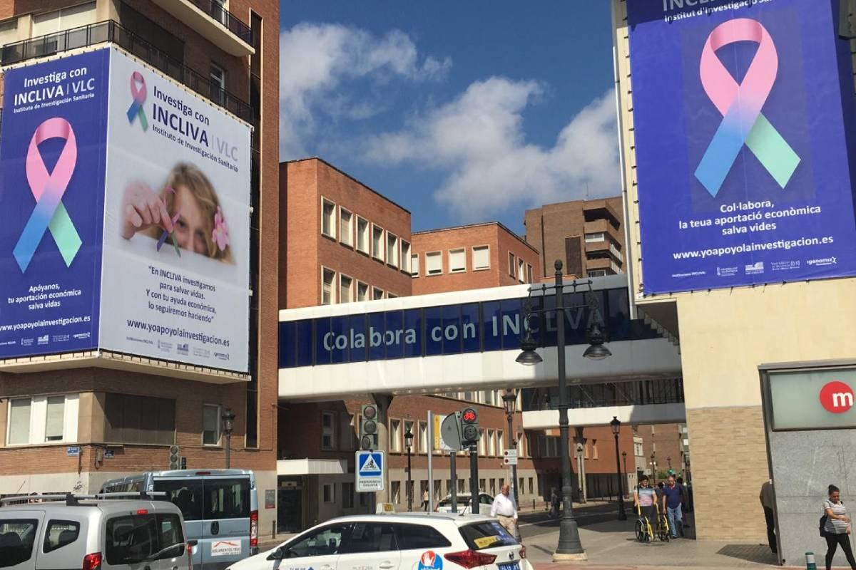 Fachada del Instituto de Investigación Sanitaria del Hospital Clínico de Valencia (Incliva).
