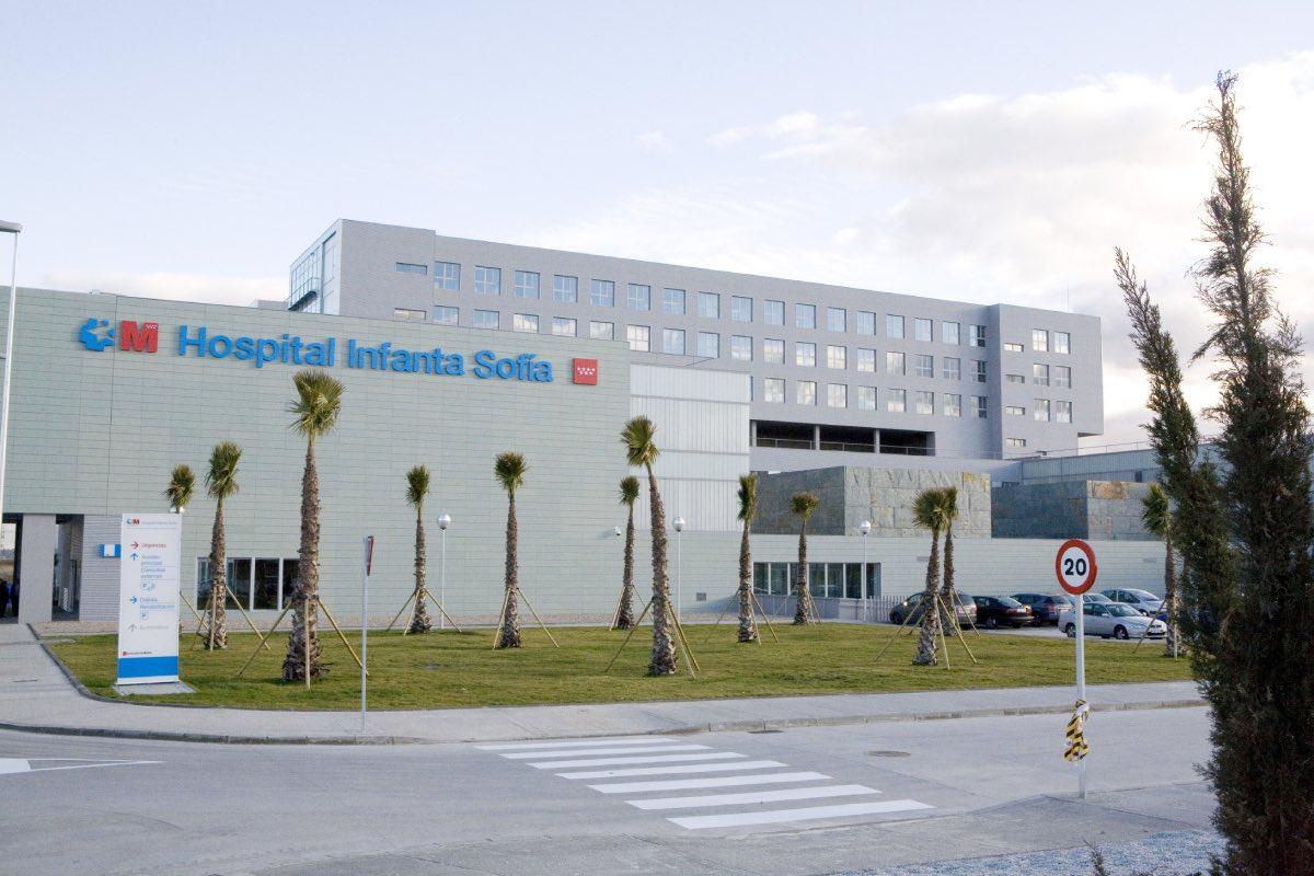 Fachada principal del Hospital Universitario Infanta Sofía, en la zona norte de la Comunidad de Madrid (FOTO: Sermas).
