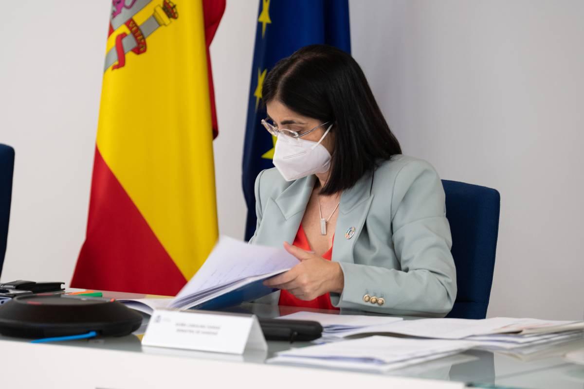 La ministra de Sanidad, Carolina Darias, tras el Consejo Interterritorial del 14 de julio. /Pool Moncloa-Borja Puig de la Bellacasa.
