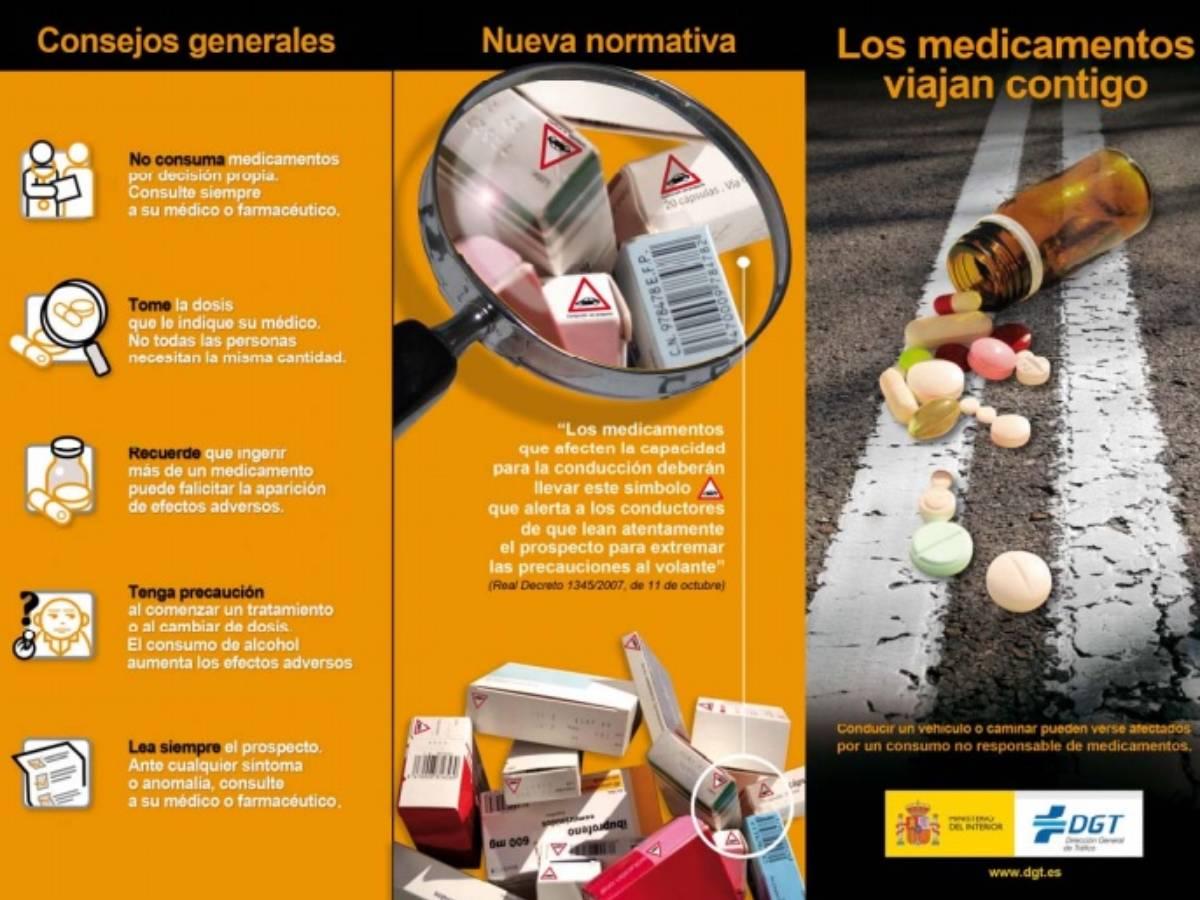 Campaña de la DGT 'Los medicamentos viajan contigo'.