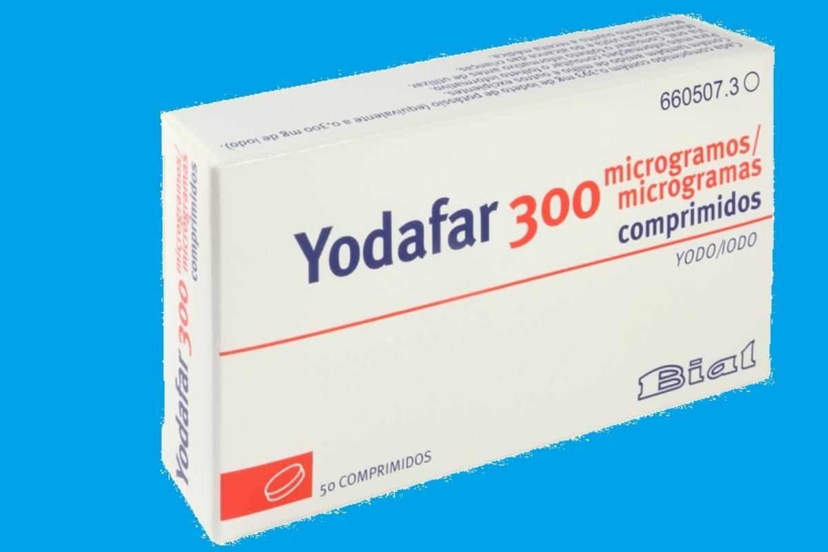 Presentación de 'Yodafar' 300 mg, de Laboratorios Bial, para oficinas de farmacia./Aemps.