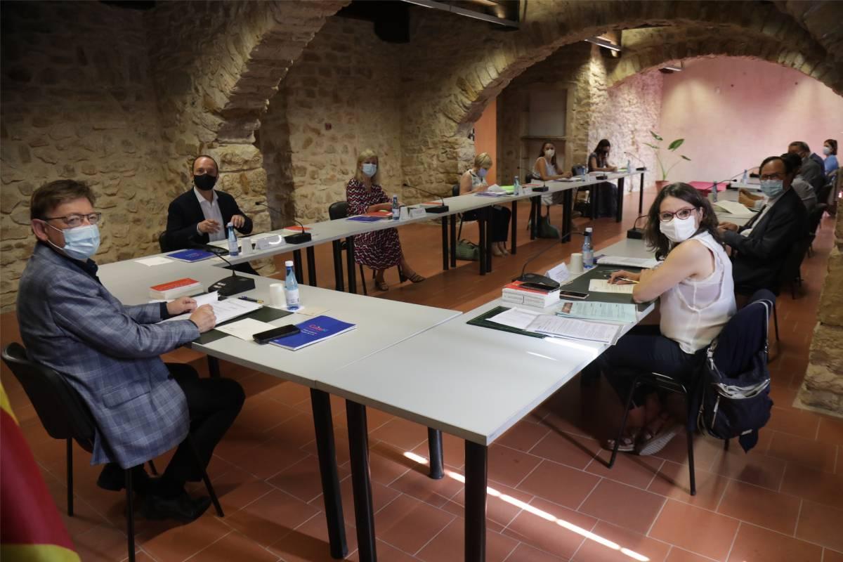 Reunión del Pleno del Gobierno de Valencia este verano.