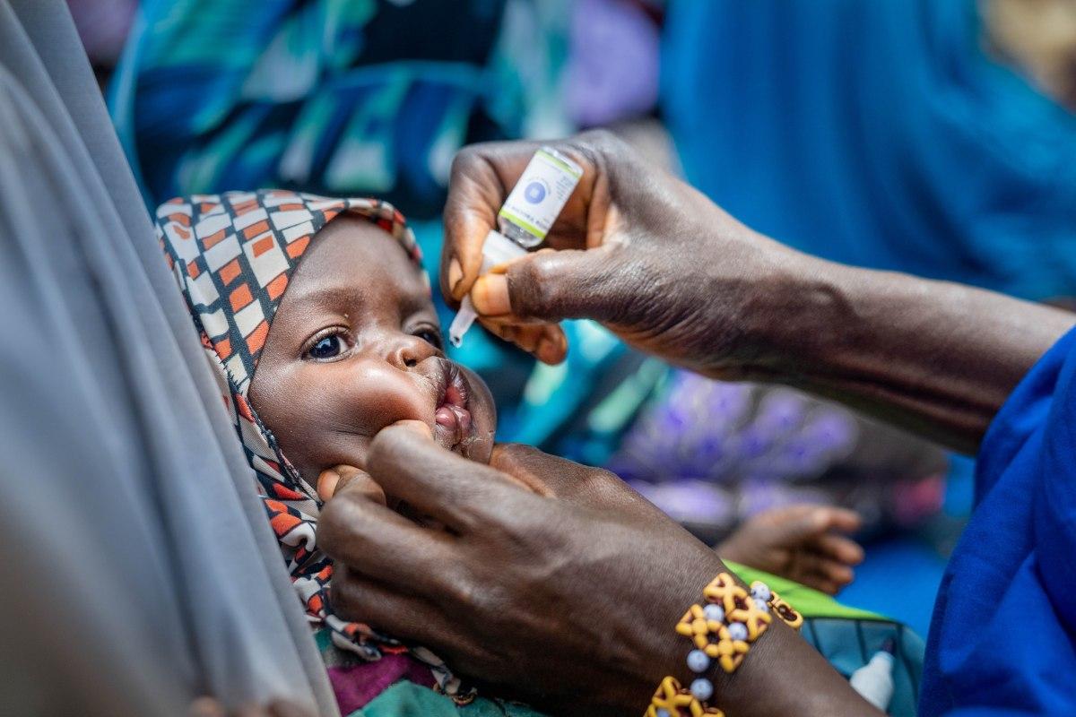Campaña de vacunación oral contra la polio en Nigeria.
