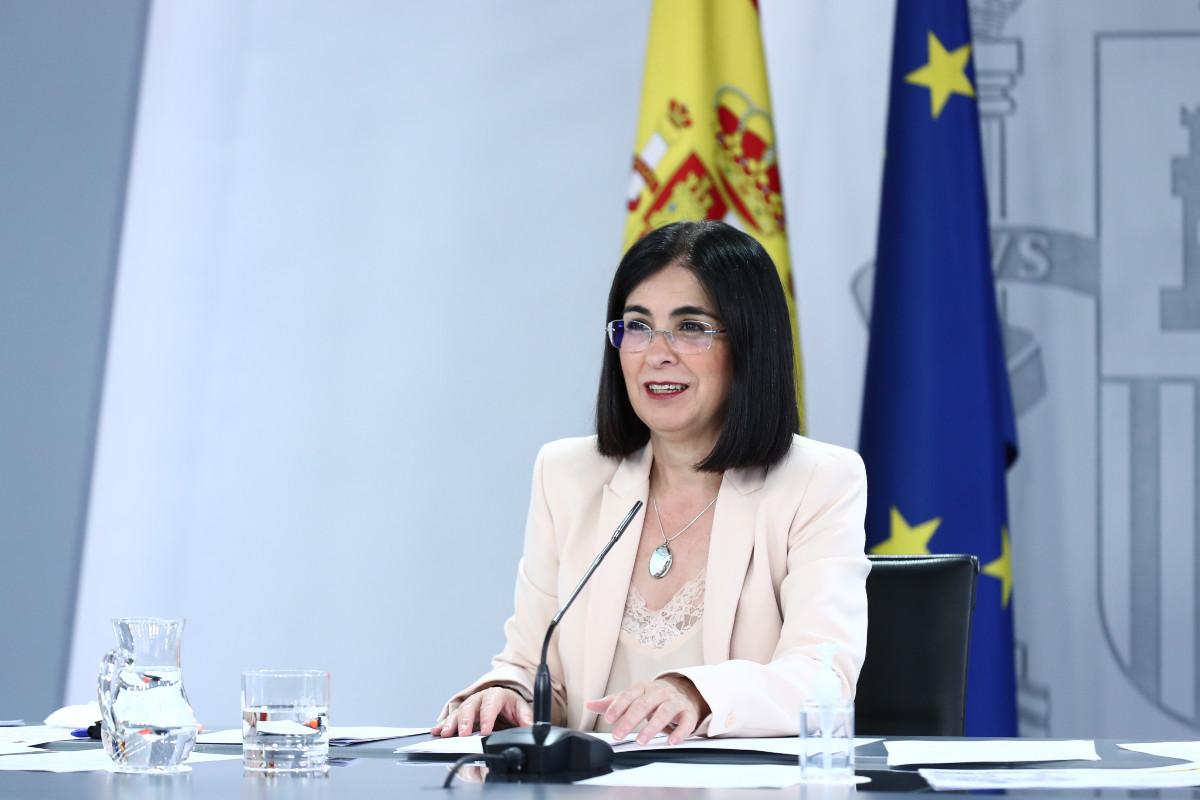 Carolina Darias, en rueda de prensa tras la reunión del Consejo Interterritorial de hoy, ha señalado que la variante Delta del virus es responsable del 40% de los contagios actuales.