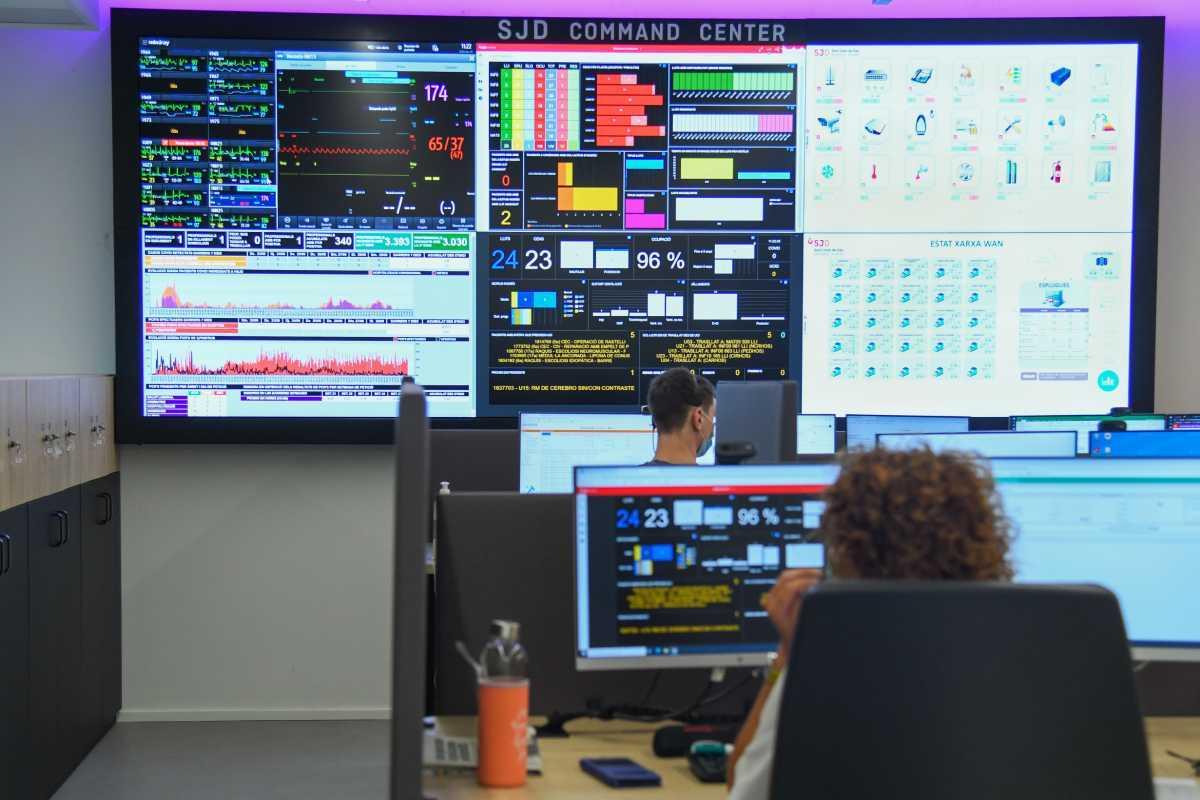 La 'torre de control' del HSJD seguirá desarrollándose para abarcar más parámetros de control y gestión. Foto: HSJD