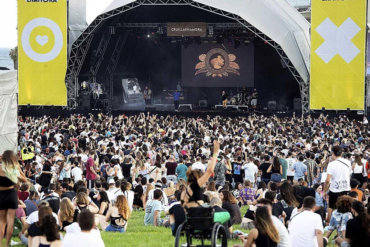 El Festival Cruïlla, celebrado en Barcelona, congregó a 50.000 personas.