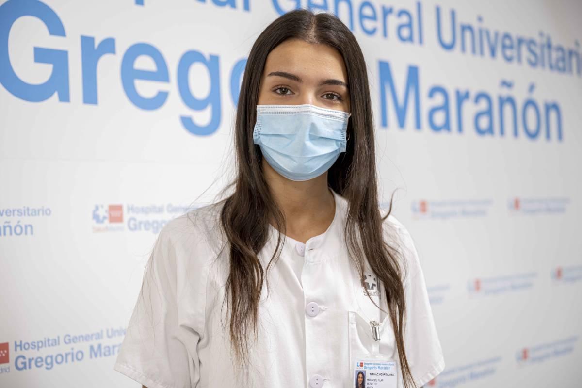 María Montero, primera en elegir Farmacia Hospitalaria en la convocatoria de 2021. (FOTO: H. Gregorio Marañón)