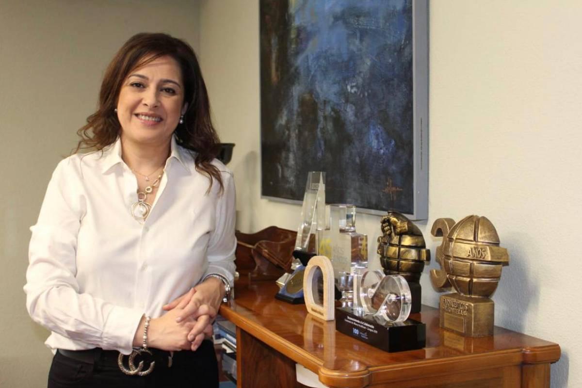 Raquel Garc�a Fuentes, presidenta del Consejo Aragonés de COF y del COF de Zaragoza.