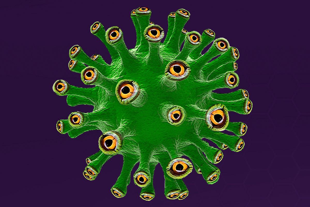 Las nuevas mutaciones del SARS-CoV-2 pueden constituir un serio peligro para frenar el avance del virus. ILUSTRACIÓN: Luis Parejo.
