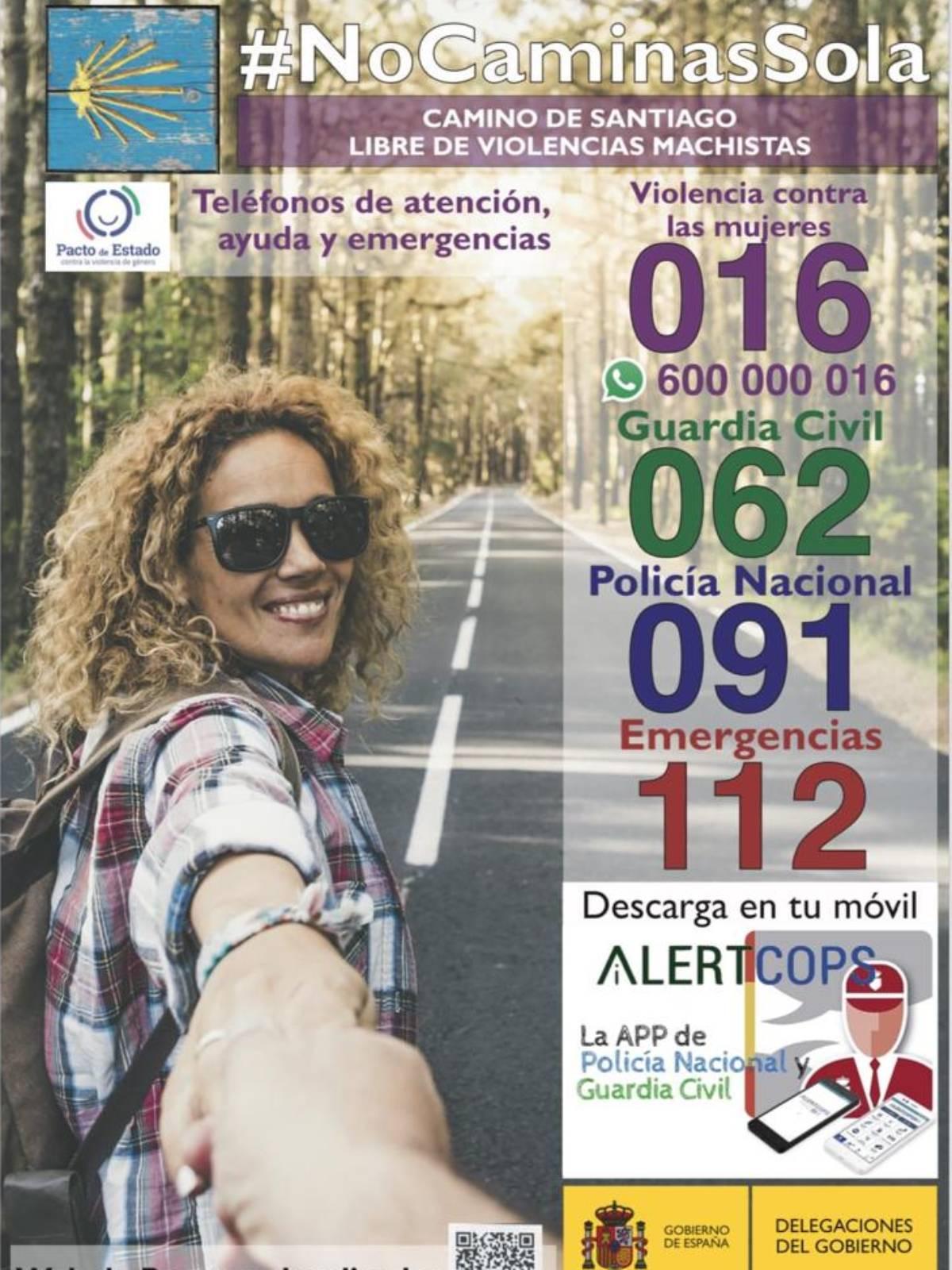 Cartel de la campaña '#NoCaminasSola'.