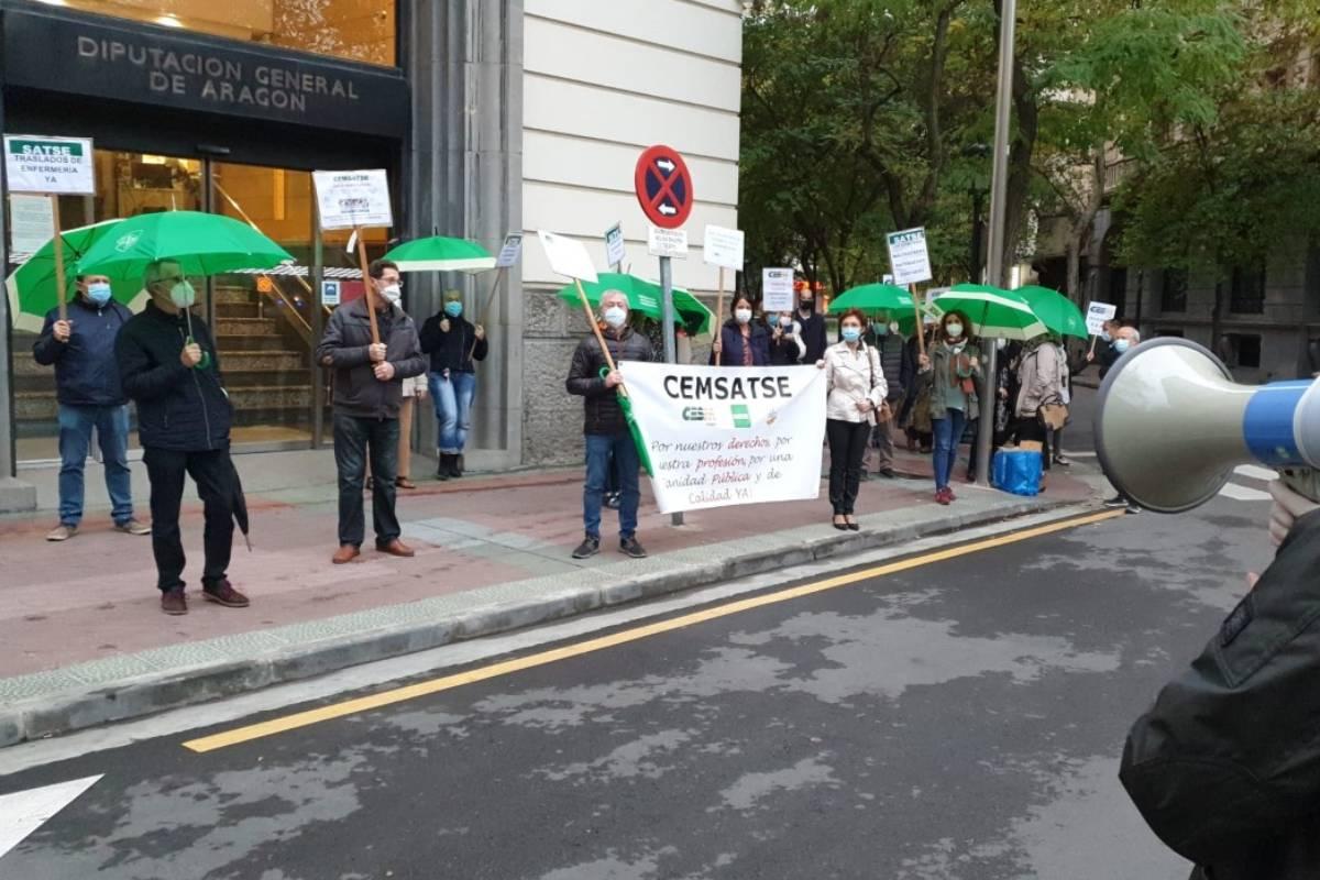 Los sindicatos sanitarios de Aragón integrados en Cemsatse reclaman el abono de todos los atrasos en la nómina de septiembre.
