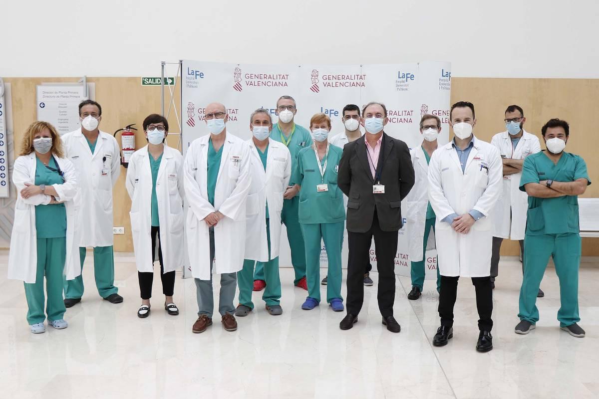 Equipo de Cirug�a Radioterápica del Hospital Universitario y Politécnico La Fe de Valencia.