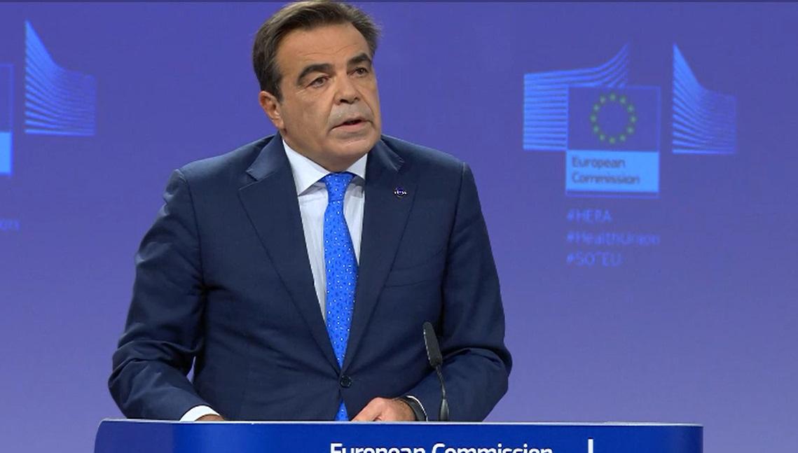 Margaritis Schinas, vicepresidente de la Comisión Europea.