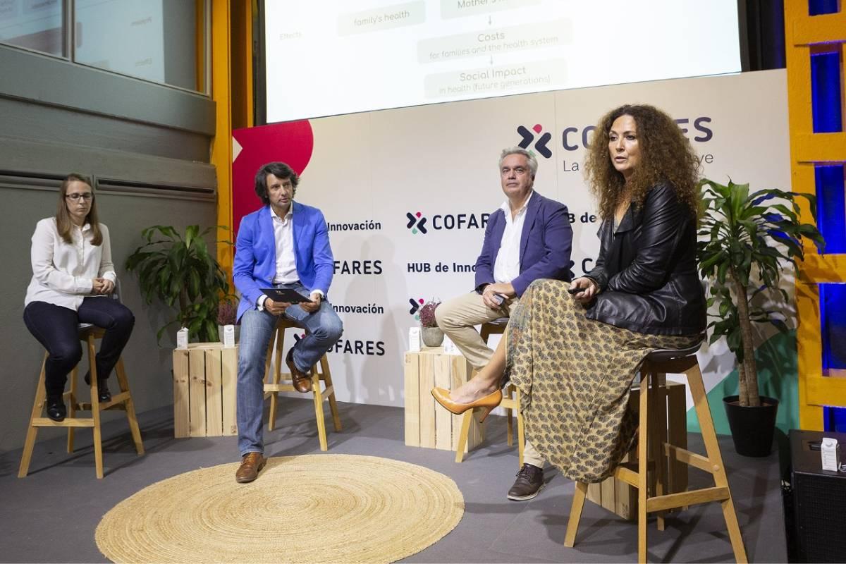 Sara Toledano, de Sycai Medical; Pablo Caño, consultor digital; Pedro Luis Navarro, de iGluco, y Verónica Montesinos, de Dana.