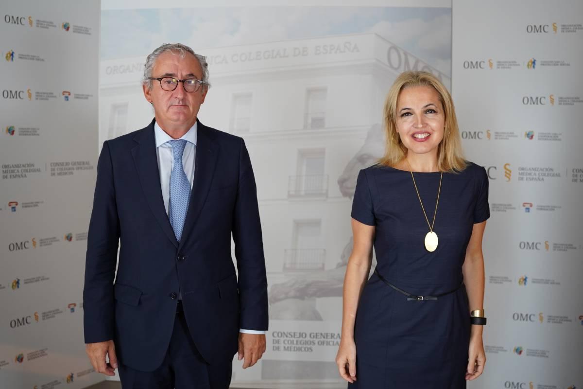 Tomás Cobo Castro, presidente de la OMC, y Beatriz Domínguez-Gil, directora de la Organización Nacional de Transplantes.