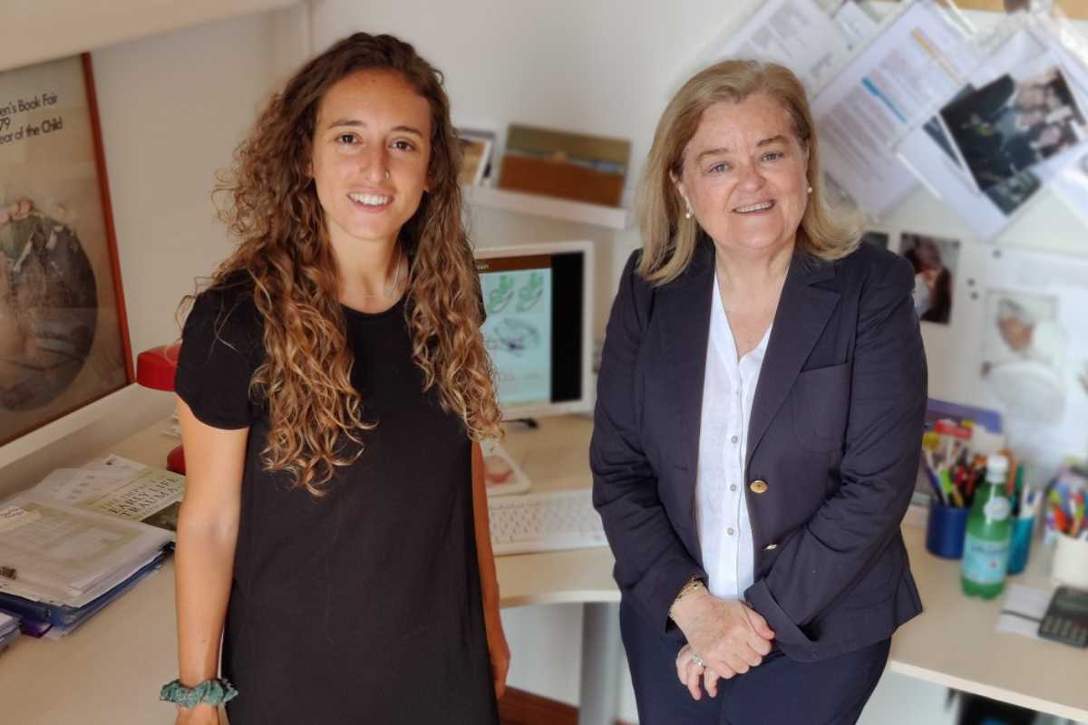 Laia Marques y Lourdes Fañanás, de la UB, han observado una relación dosis-efecto. Foto: UB
