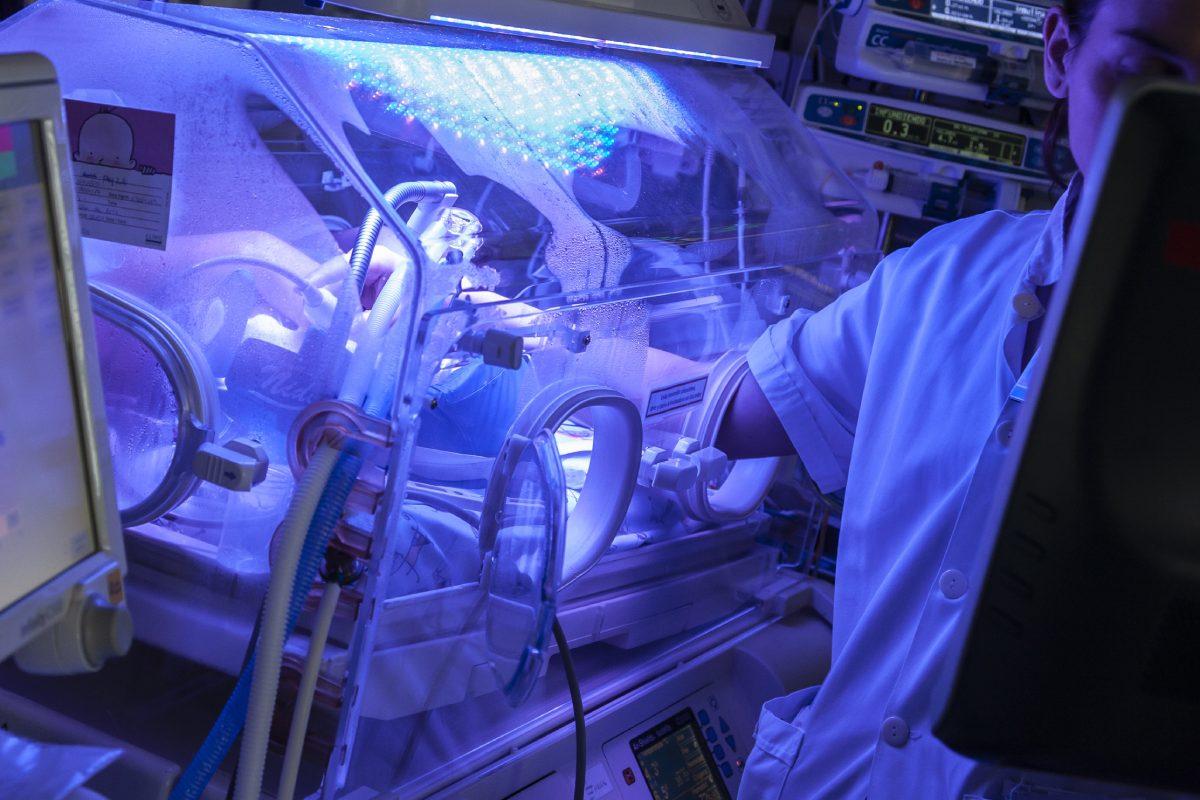 UCI de neonatos en el Hospital Clinic-Maternidad.